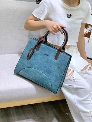 Fashion blue designer handbag image 1