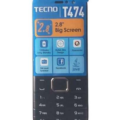 Tecno T474 Dual Sim, 2.8'' , Big Screen Display FM With BT -black image 2