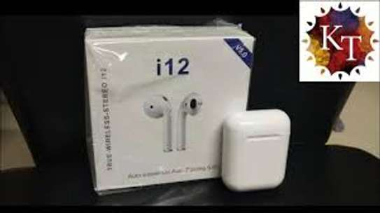 i 12 wireless bluetooth ear phone image 1
