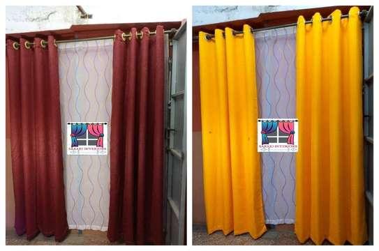 Plain curtains image 1