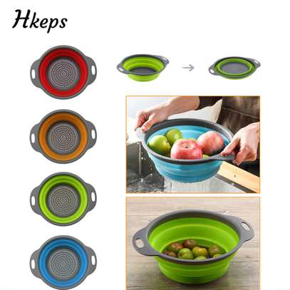 Foldable silicone colander image 3