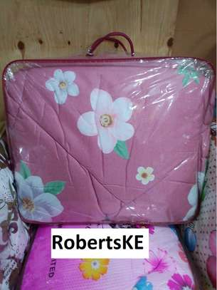 pink quilted duvet image 1