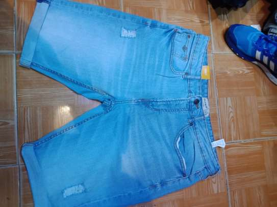 Unfinished Jeans Shorts
