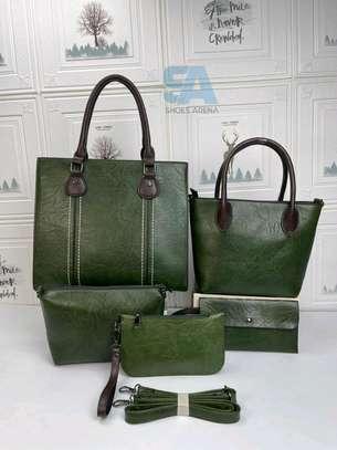 Fancy 5 in 1 Leather Handbags image 9