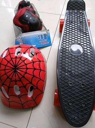 Spiderman skateboard helmet plus guard image 2