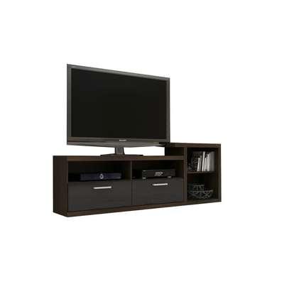 TV Stand for Up to 42'' TVs - Tecno Mobili - BlackBrown image 2