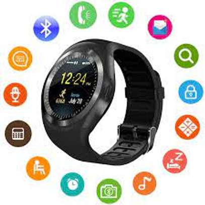 Y1 Smart Watch With Mpesa Menu And Camera- Black image 2