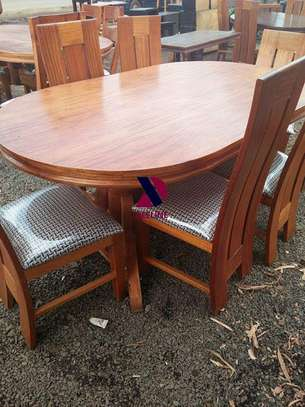 Oval 6 Seater Dining Table Set (401) image 10