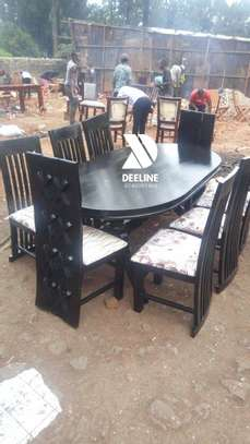 Black 8 Seater Dining Table Sets image 4