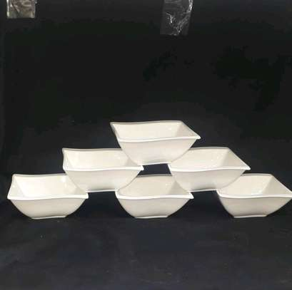 6 pc ceramic bowls image 1