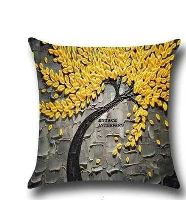 Decorative Floral Print Throw Pillows image 1