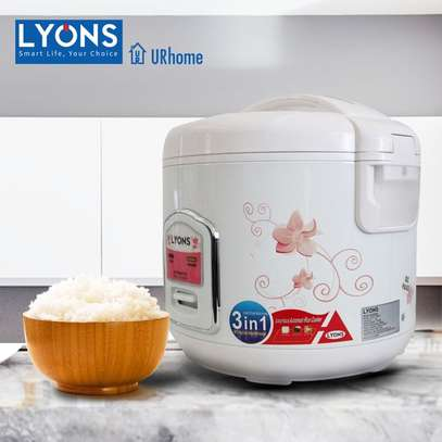 3-in-1 Electric Rice Cooker 1.8ltrs 700w image 1