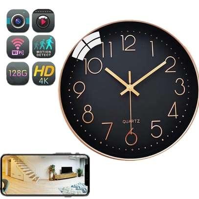 4K WiFi security CCTV Camera Wall Clock image 1