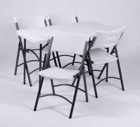 White foldable seats image 1