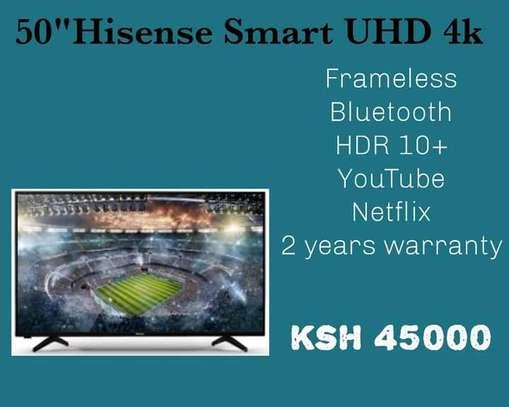 50 inch Hisense Frameless Bluetooth 4K+Free Wall Mount image 1
