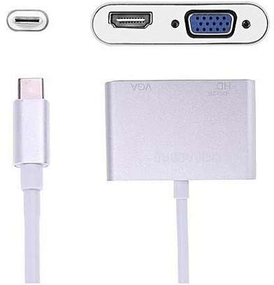 USB C To HDMI 4K VGA Adapter USB 3.1 Type C To VGA HDMI Video Converte image 4