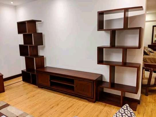 Solid Red-Mahogany Wall unit (3 pieces) image 2