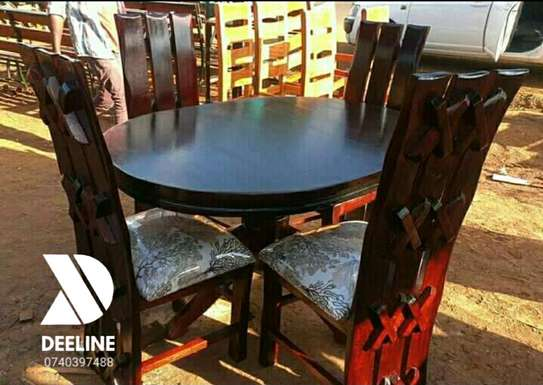 5 Piece Mahogany Framed Dining Table Sets. image 6