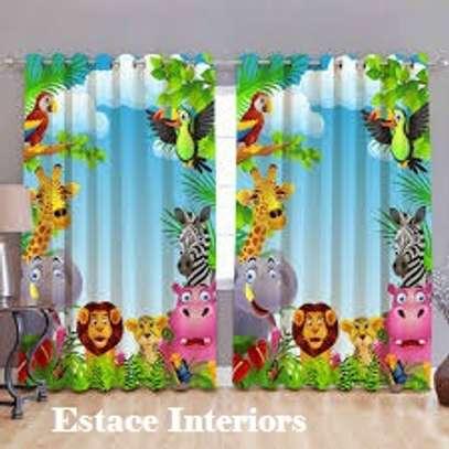 Cartoon print curtains image 4