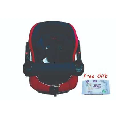 Superior Infant Car Seat (0-36months)- Red & Blue plus a free gift image 1
