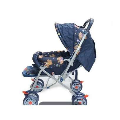 Baby Stroller/ Foldable Pram Portable Baby Stroller With Universal Casters- multicolour image 2