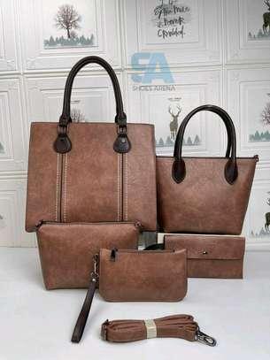 Fancy 5 in 1 Leather Handbags image 3