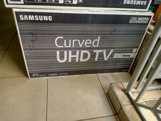 Samsung 49 curved 4k tv model ru7300 image 1
