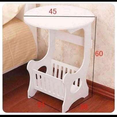 European White decorative/ bedside/coffee/balcony/magazine/living room stool image 2