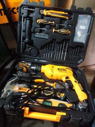 Ingco Impact Drill Set 850WATTS 101 Pcs image 1