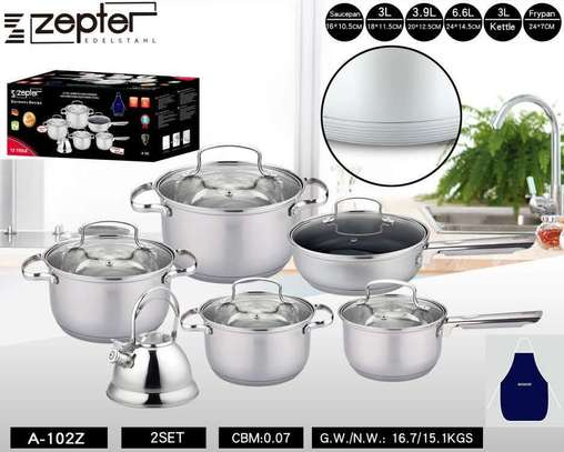 Zepter 12 pieces cookware set image 1