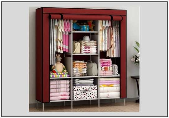 Portable 3 compartment collapsible Wardrobe storage image 1