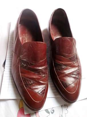Genuine brown leather official shoes image 3