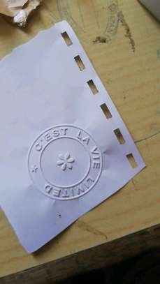 COMPANY SEALS Rubber stamps, plaques and all types of laser engraving image 2