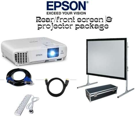 Rear/front screen projector and projector package image 1