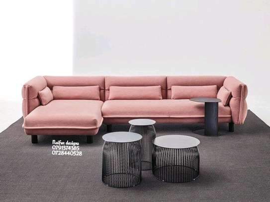 Modern pink couches and sofas/modern five seater sofas/sofas for sale in Nairobi Kenya image 1