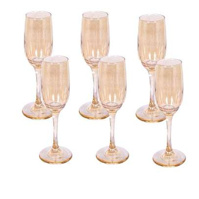 Champagne glass gold image 1