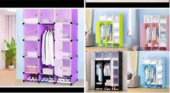 plastic portable wardrobes 3 columns image 11