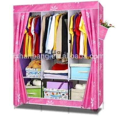 4 compartments metallic wardrobe image 1