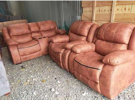 Five seater ' recliner'sofas image 1
