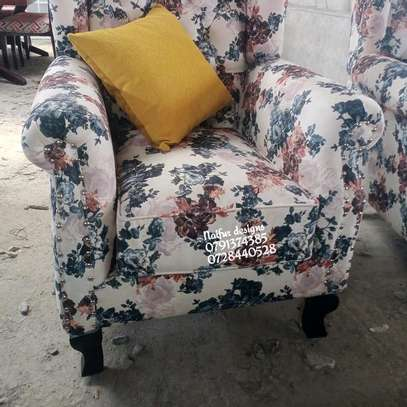 One seater sofa/king size chair/floral chairs/modern single seater sofas image 4