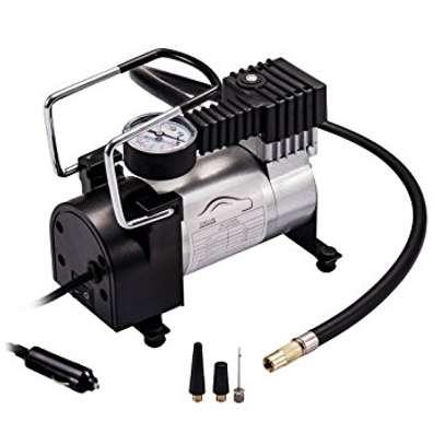 Portable DC 12V Metal Air Compressor Tyre Inflator Electric Pressure Gauge image 1