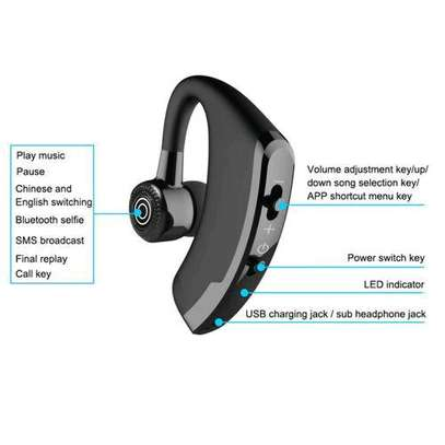 V9 Ear Wireless CSR Bluetooth Headset, Hands Free With Mic For And Android WWD image 3