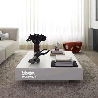 Modern white coffee table/coffee tables image 1