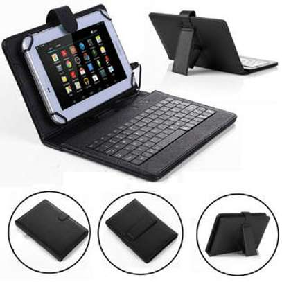 Universal Tablet Case With Micro USB Keyboard For Samsung Tab E 9.6 inches image 2