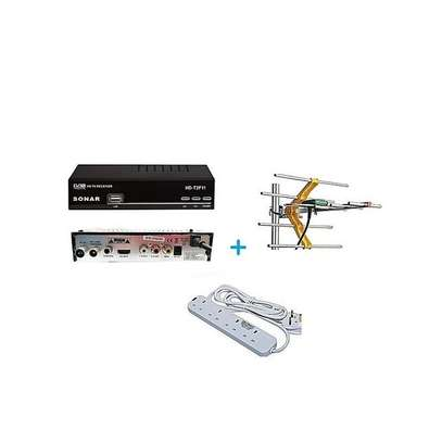 Sonar FREE to Air TV Digital Decoder + a FREE Digital Receiver Antenna/Aerial and a FREE Heavy Duty 4-Way Socket Extension Cable image 1
