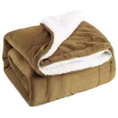 5 by 6 Flannel Throw Sherpa Super warm Fleece blanket image 2