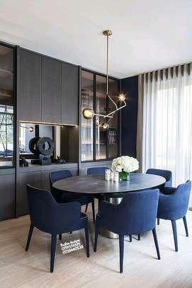 Blue dining table set for sale in Nairobi Kenya/latest six seater dining tables for sale in Nairobi Kenya image 1