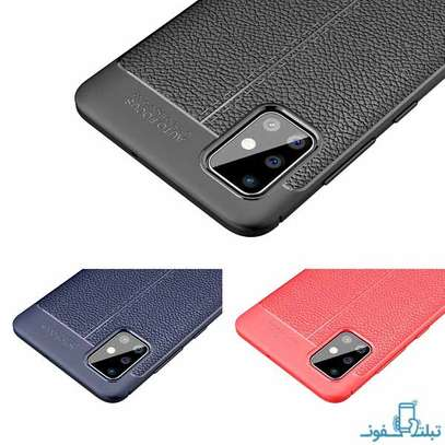 Auto Focus Leather Pattern Soft TPU Back Case Cover for Oppo A92 image 5