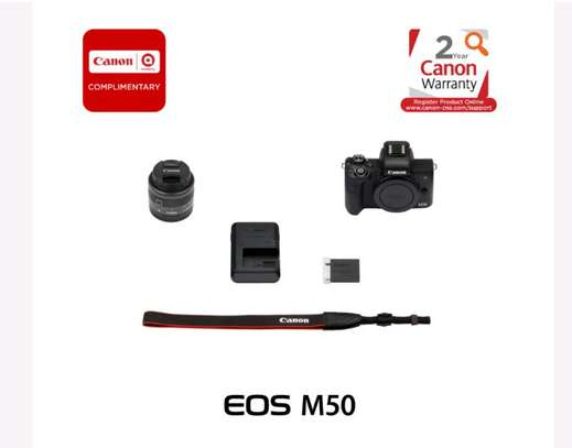 Canon EOS M50 Mirrorless Digital Camera with 15-45mm Lens (Black) image 1