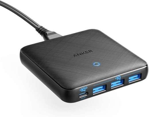 Anker PowerPort Atom III Slim 65W 4-Port Desktop Charger – A2045 – Black image 1